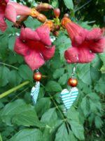 Handmade náušnice srdiečka malé HM009