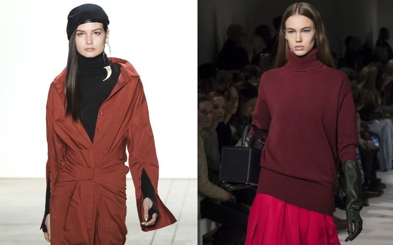 Módne trendy červená hnedá